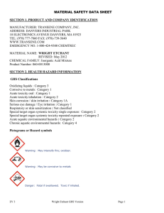 MATERIAL SAFETY DATA SHEET  SECTION 1. PRODUCT AND COMPANY IDENTIFICATION