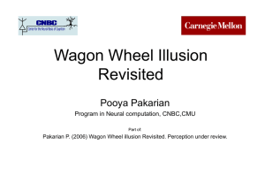 Wagon Wheel Illusion Revisited Pooya Pakarian Program in Neural computation, CNBC,CMU