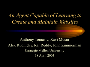 An Agent Capable of Learning to Create and Maintain Websites