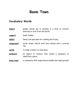 Boom Town Vocabulary Words