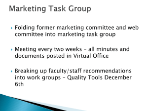 Folding former marketing committee and web committee into marketing task group