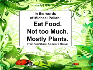 Eat Food. Not too Much. Mostly Plants. Eat Food.  Not too much.