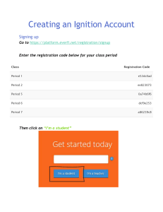Creating an Ignition Account Signing up Go to
