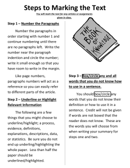 Steps to Marking the Text