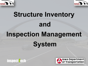 Structure Inventory and Inspection Management System