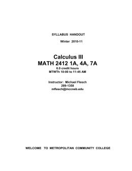 Calculus 3 essay help?