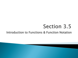 Introduction to Functions & Function Notation