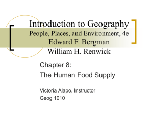 Introduction to Geography Edward F. Bergman William H. Renwick Chapter 8: