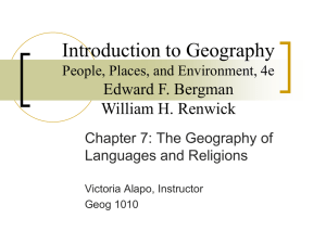 Introduction to Geography Edward F. Bergman William H. Renwick