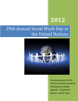 2012 29th Annual Social Work Day at the United Nations