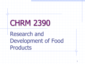 CHRM 2390 Research and Development of Food Products