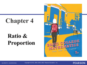 Chapter 4 Ratio & Proportion