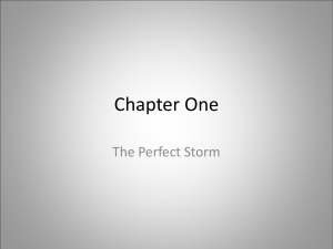 Chapter One The Perfect Storm