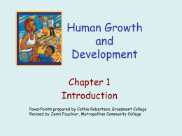 Human Growth and Development Chapter 1