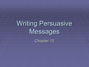 Writing Persuasive Messages Chapter 10