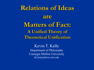 Relations of Ideas are Matters of Fact: A Unified Theory of