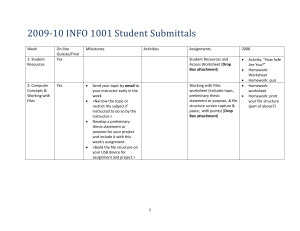 2009-10 INFO 1001 Student Submittals