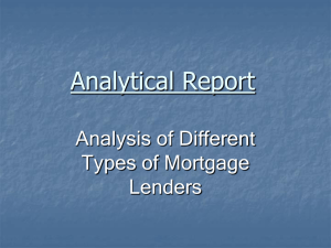 Analytical Report Analysis of Different Types of Mortgage Lenders