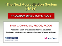 """The Next Accreditation System "" (NAS) 'S ROLE"