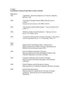 A. Jones Contribution to Research and Other Creative Activities  Publications: