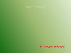 Free Speech By: Awesome People