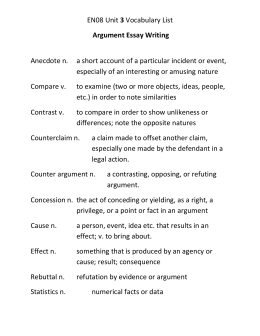 Counterargument Sentence Starters  Argument Essay Writing Especially Of An Interesting Or Amusing Nature