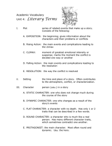 Literary Terms Academic Vocabulary Unit 4: