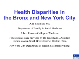 Health Disparities in the Bronx and New York City