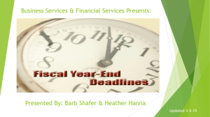 Business Services & Financial Services Presents: Updated 3-5-15