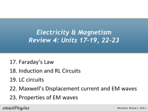Electricity & Magnetism Review 4: Units 17-19, 22-23