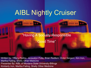 "AIBL Nightly Cruiser ""Having A Socially Responsible Good Time"""