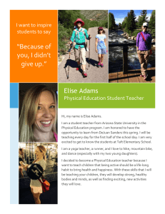 """Because of you, I didn't give up."" Elise Adams"
