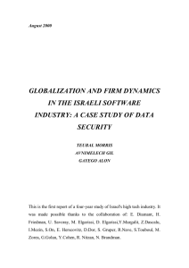 GLOBALIZATION AND FIRM DYNAMICS IN THE ISRAELI SOFTWARE