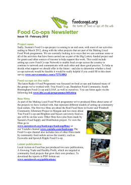 Food Co-ops Newsletter