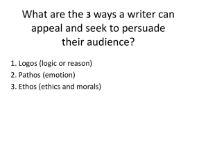 What are the ways a writer can appeal and seek to persuade