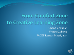 From Comfort Zone to Creative Learning Zone