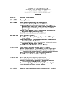 7 Annual Undergraduate History Department Conference Saturday, April 18, 2015