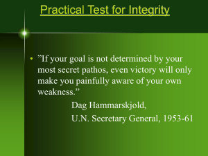 Practical Test for Integrity