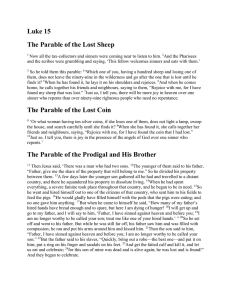 Luke 15 The Parable of the Lost Sheep