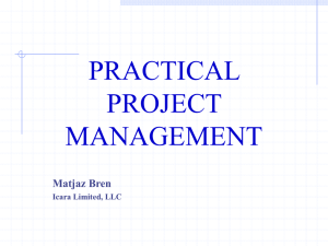 PRACTICAL PROJECT MANAGEMENT Matjaz Bren