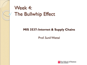 Week 4: The Bullwhip Effect MIS 3537: Internet & Supply Chains