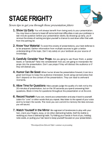 STAGE FRIGHT? Seven tips to get you through those presentation jitters