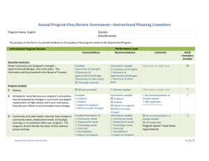 Annual Program Plan/Review Assessment—Instructional Planning Committee  Program Name: English Division:
