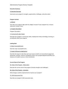 Administrative Program Review Template