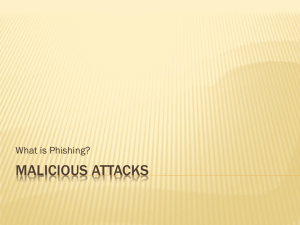 MALICIOUS ATTACKS What is Phishing?
