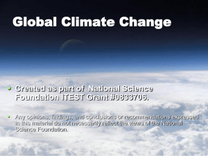 Global Climate Change  Created as part of National Science