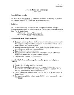 Columbian exchange essay