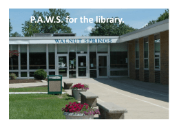 P.A.W.S. for the library.
