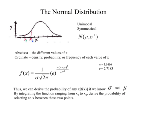 The Normal Distribution  