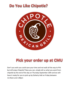 Don't you wish you could save your time and not... but still enjoy Chipotle? Now you can, simply tell us...